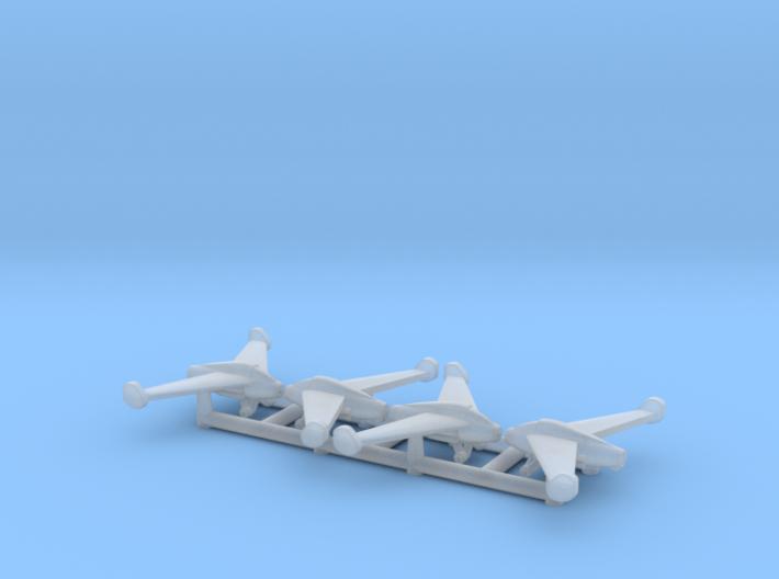 (1:600) (x4) Kayaba Ku-4 Katsuodori 3d printed