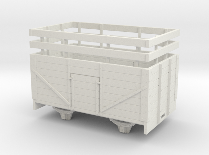 1:32/1:35 7 plank open wagon with rails 3d printed