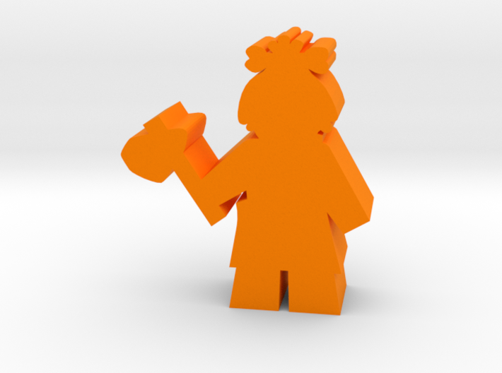 Game Piece, Cavegirl with Axe 3d printed
