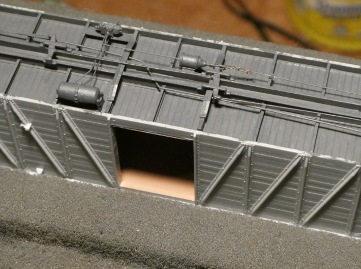 HO AB Brake System Kit 3d printed Just another view of a finished and painted underframe.