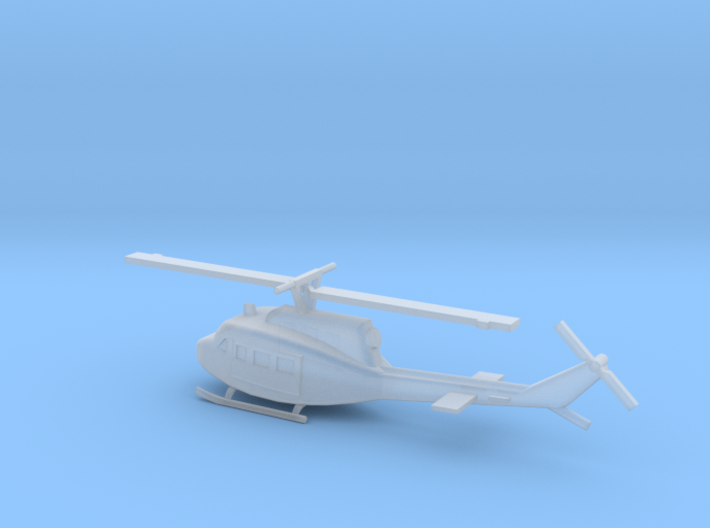 1/300 Scale UH-1D Model 3d printed