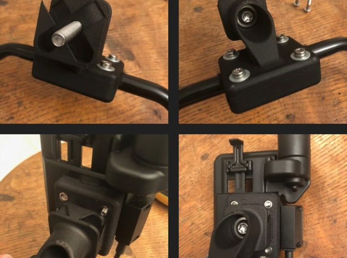 Variable Riser Adapter for BMW Nav5/6 Mount Cradle 3d printed