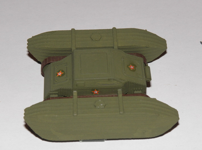 1/87th (H0) Straussler V-3 prototype 3d printed Photo and painting by Dr. Peter Franke.