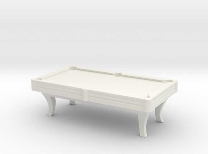 Pool Table 01. HO Scale (1:87) 3d printed