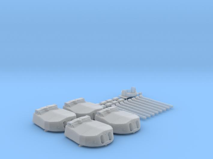 "1/350 HMS Hood 15"" (38.1 cm) Mark II Turrets 1941 3d printed 1/350 HMS Hood 15"" (38.1 cm) Mark II Turrets 1941"
