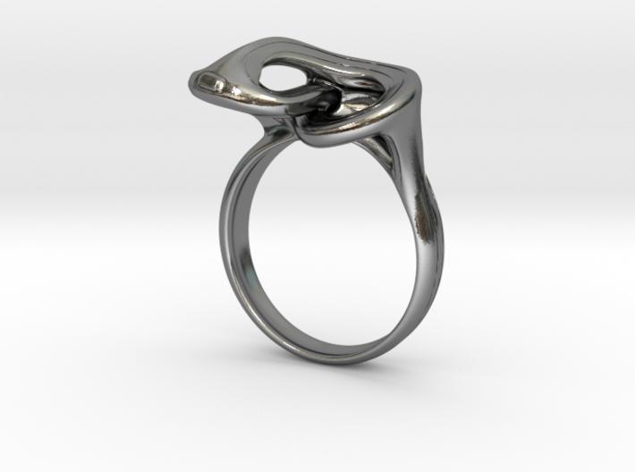 Jomon style ring -Suien(water fog)- 3d printed