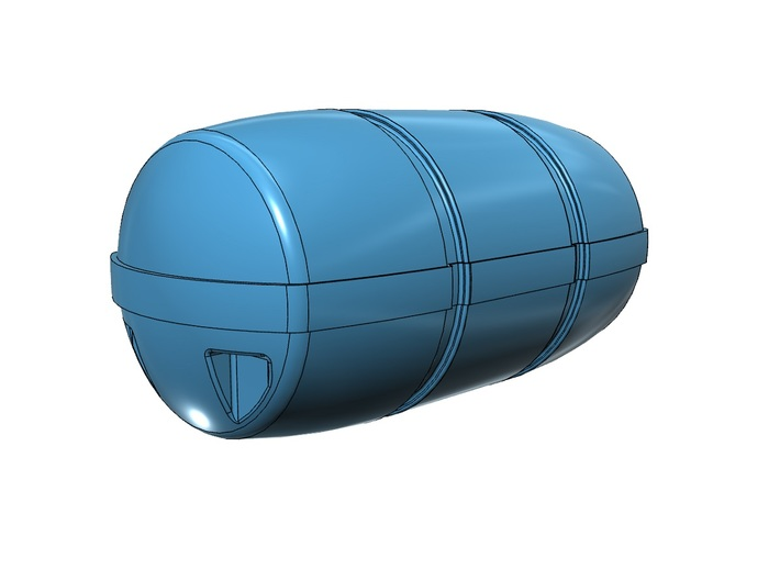 1/500 Life Raft Canisters, late Cold War-era USN 3d printed