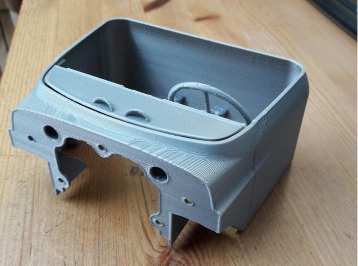 DAF-Torpedo-dash 3d printed test (thuis)print dak loze cab met dash geinstalleerd