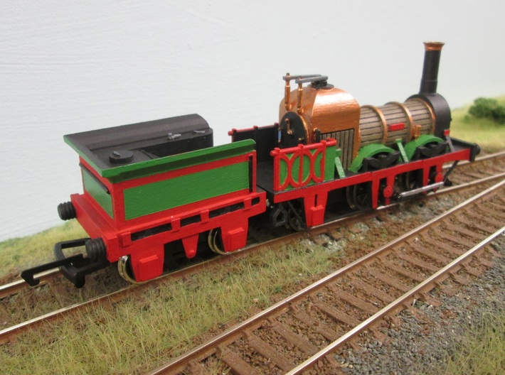 00 Scale Lion (Titfield Thunderbolt) Tender 3d printed The completed tender as 'Thunderbolt'