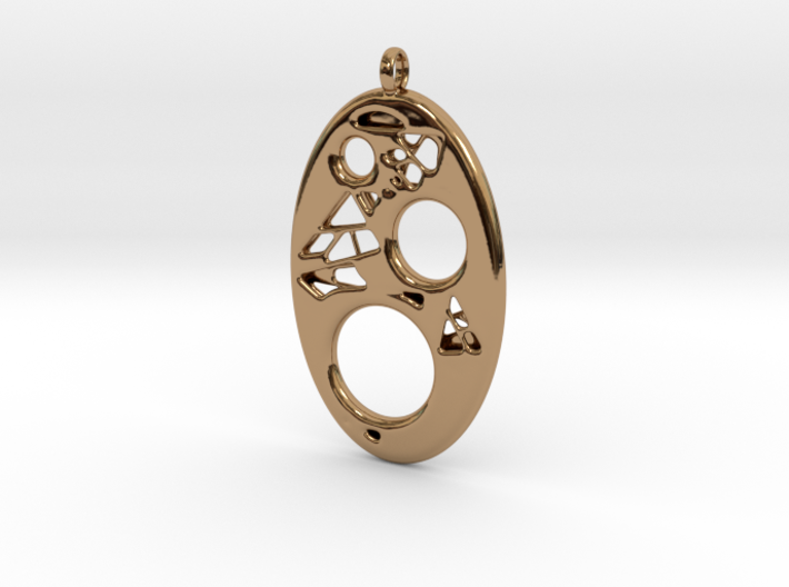 Oval Pendant 2 3d printed
