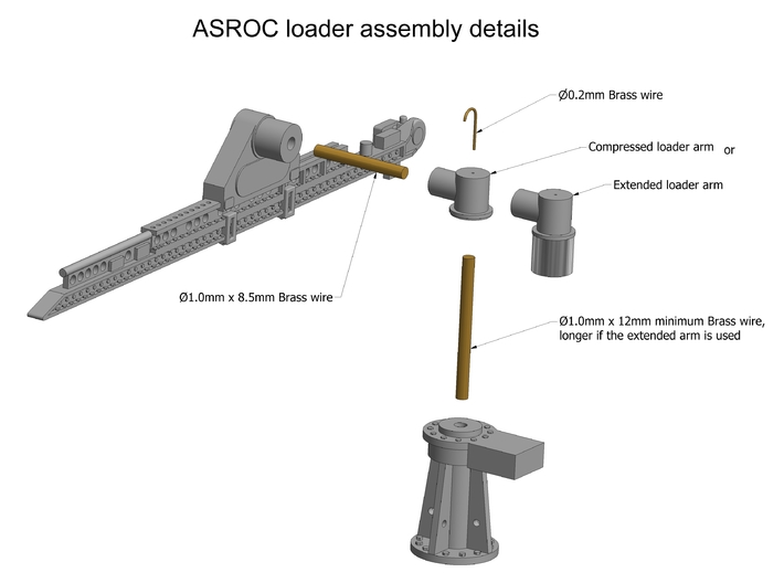 ASROC Detail set 1/96 3d printed