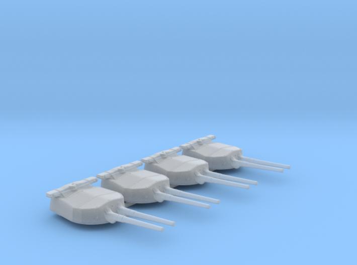 "1/600 HMS Hood 15"" Mark II Turrets 1920 B. Bags 3d printed 1/600 HMS Hood 15"" Mark II Turrets 1920 B. Bags"