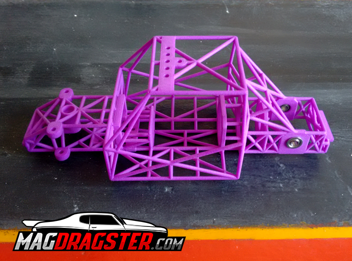 MagDragster [MD-Golf01] Golf Mk1 RC Car / Slot Car 3d printed MagDragster Purple Golf Mk1 Chassis