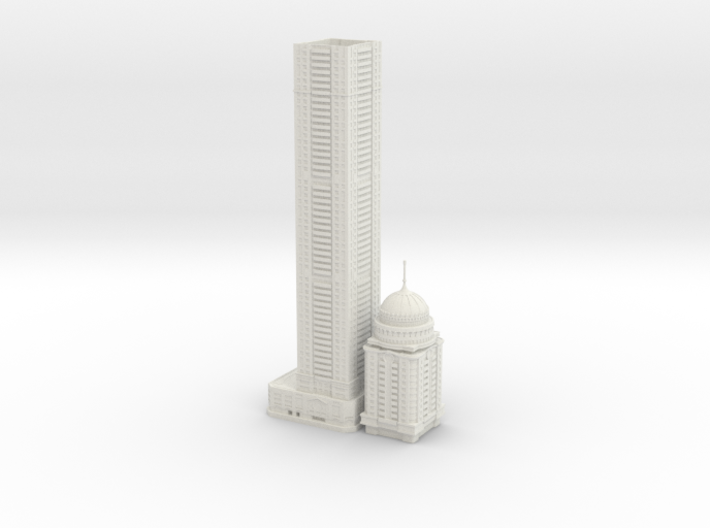 Princess Tower (1:1800) 3d printed