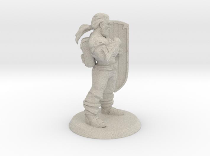 Targen of Greymaw, Shieldbrawler 3d printed