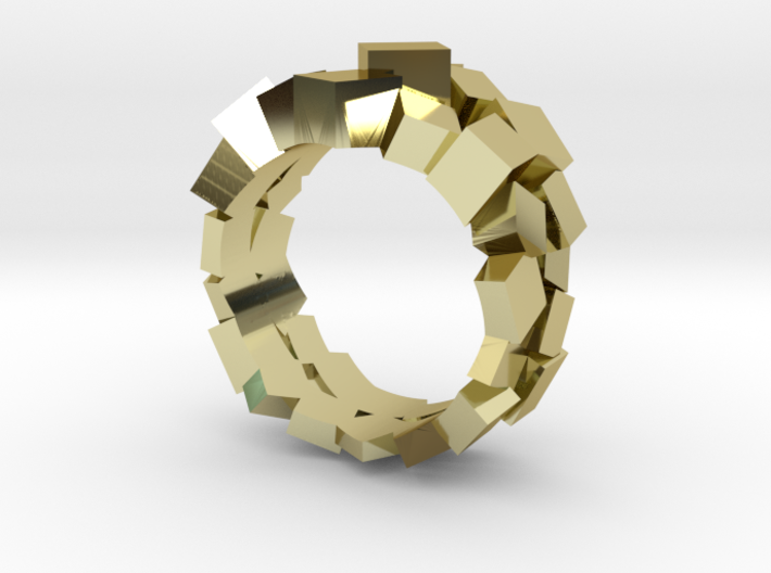Prism Double Ring (from $15) 3d printed