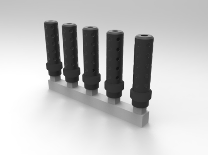 Bolt Rifle Suppressors Dimple v1 x5 3d printed