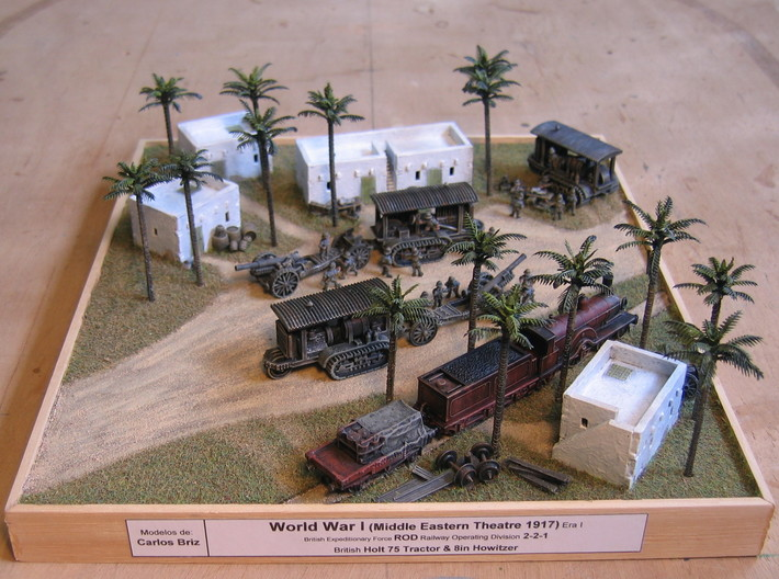 WW I Holt Tractor w. 8in Howitzer 1/144 3d printed Dio by Carlos Briz! Many Thanks!