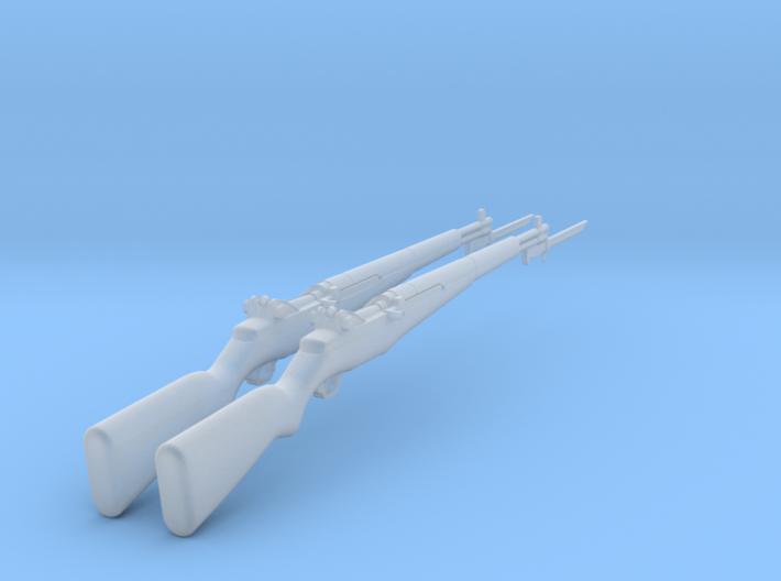 M1 Garand with bayonet (1:18 scale) 3d printed
