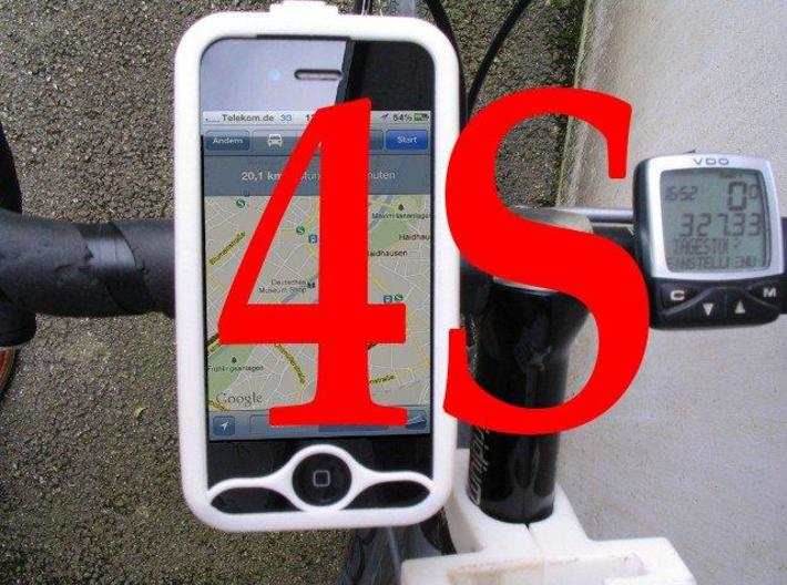 """iPhone 4S bike mount assembly 1 1/4"""" 3d printed"""