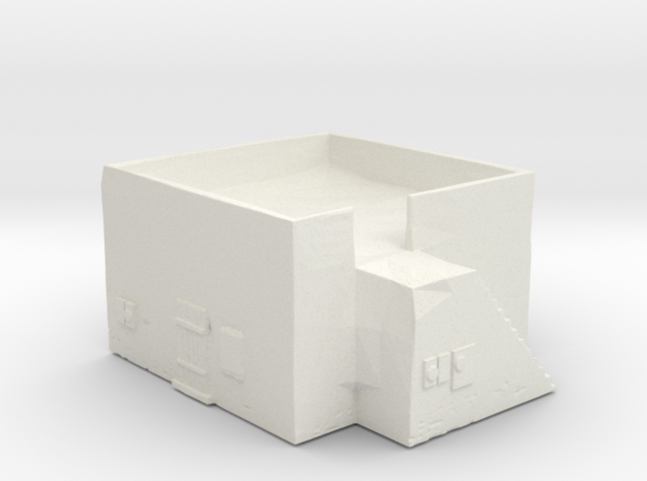Dense housing with side-stairway 3d printed