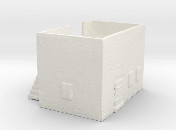 Dense housing with back-side stairway 3d printed