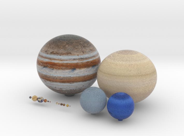 Solar System, 16 set 3d printed