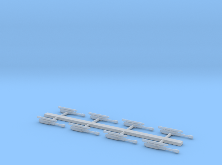 Small ship cannons style 6 pack 270th 3d printed