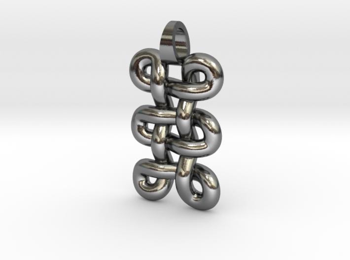 tri-knot [pendant] 3d printed