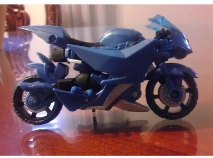 NANCY homage She-bop For TFP RID RC R 3d printed She-Bop Head enclosed in TF Prime Deluxe Arcee alt mode