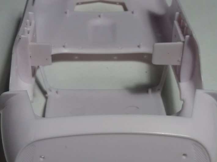Slot car chassis for Cobra Coupe 1/28 3d printed