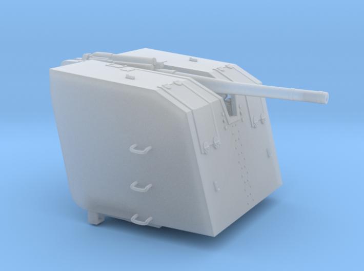 1/72 8.8cm SK C/30 Naval Gun w/ Detachable Shield 3d printed