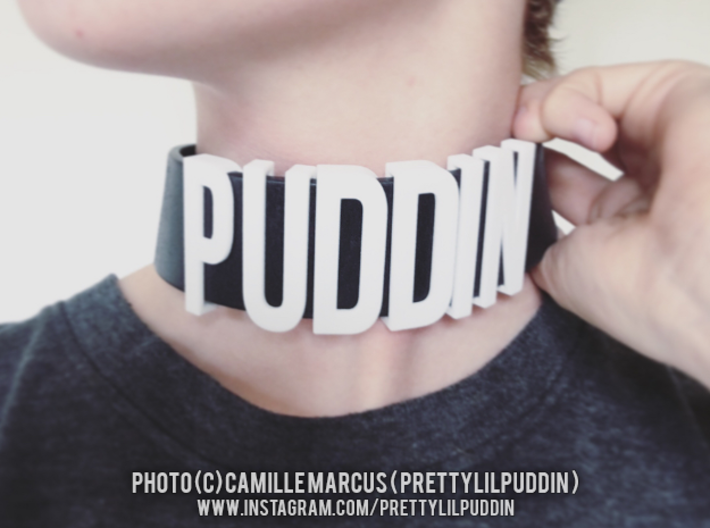 Sliding Letters - PUDDIN Bundle 3d printed Sliding letters bought and worn by a customer