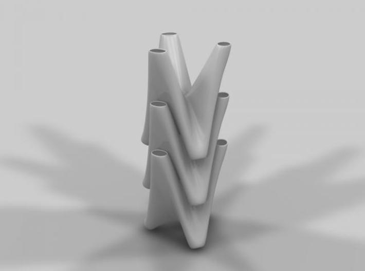 3 in 1 vase small 3d printed 3 in 1 vase stacked