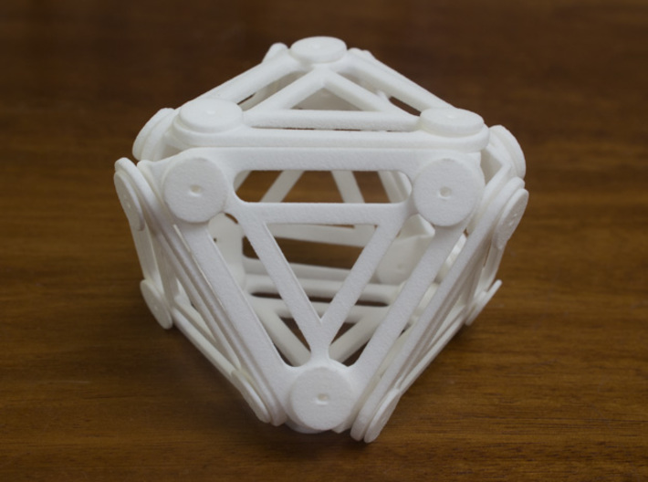 Jointed Jitterbug a.k.a Cuboctahedron a.k.a Vector 3d printed Collapsed 2