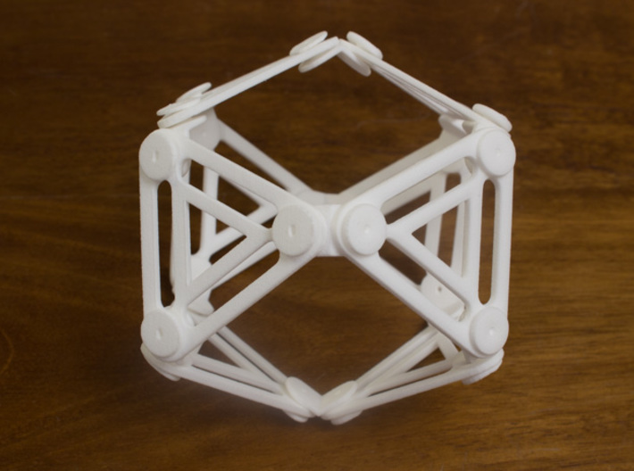 Jointed Jitterbug a.k.a Cuboctahedron a.k.a Vector 3d printed Expanded 2