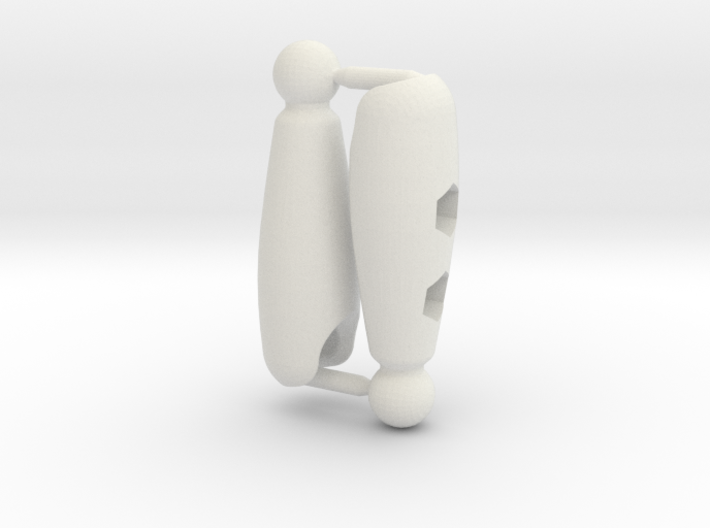 Shaped Thigh Set for ModiBot 3d printed Shaped Thigh Set for ModiBot