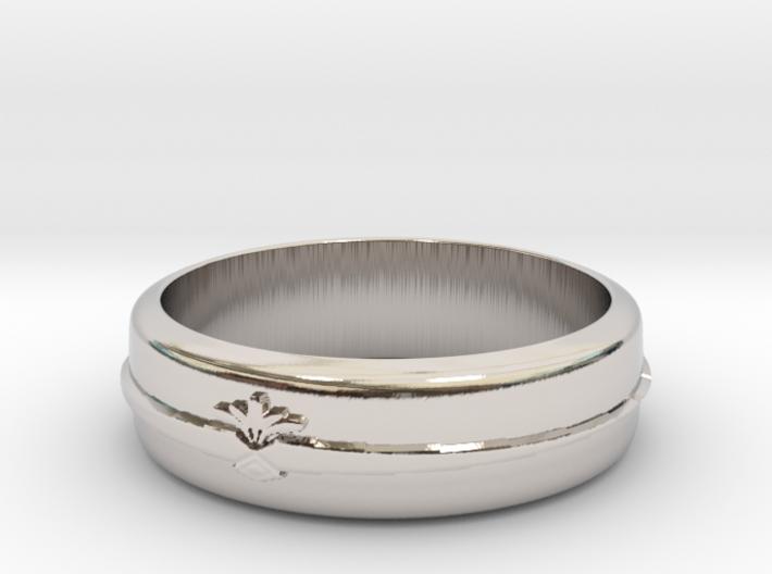 Filigree ring 1 S8 3d printed