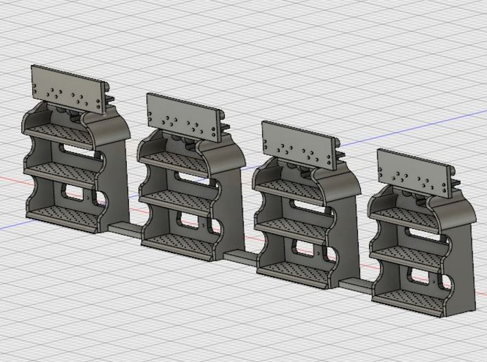 O Scale LV Caboose Steps 3d printed Front view