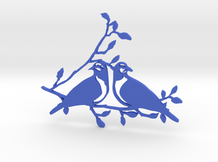 12 Days of Christmas Ornament 2 Turtledoves 3d printed