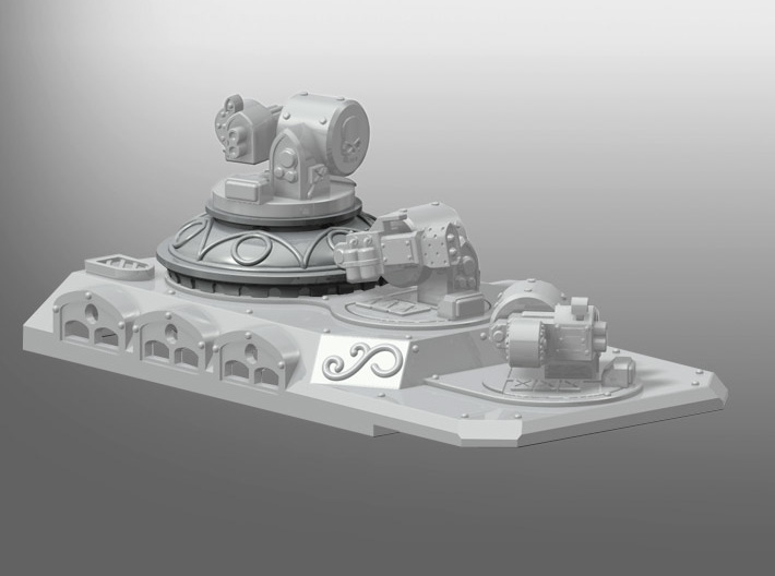 Rhinoceros Weapon Dome 3d printed Weapons and Grand Transport Top not included