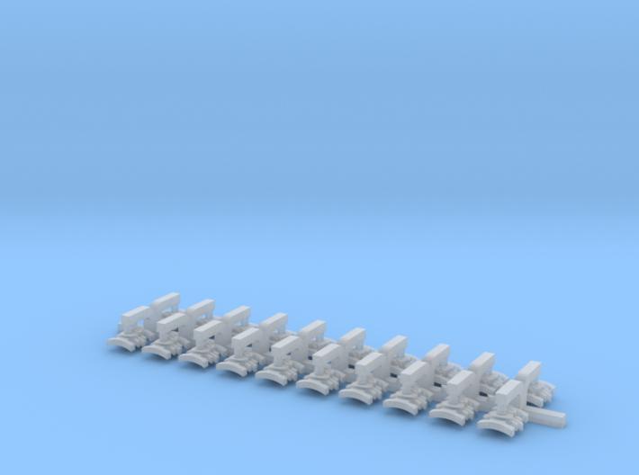 20x Xeno Hunters : Small Bent Insignias 3d printed