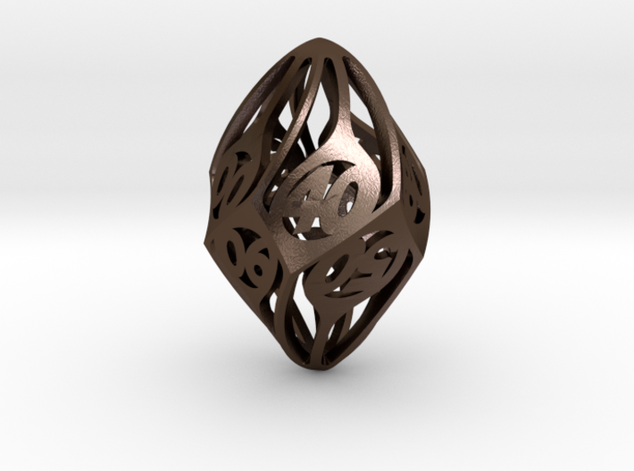 Twisty Spindle d10 Decader 3d printed