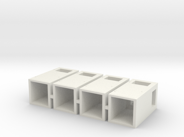 1:32nd litter bins for dioramas 3d printed
