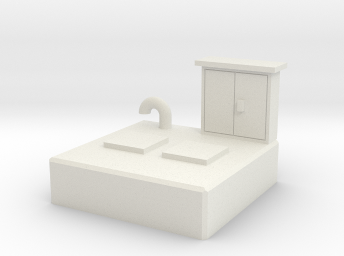 HO Sewer pumping station 3d printed