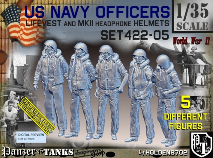 1/35 USN Officers Kapok Set422-05 3d printed