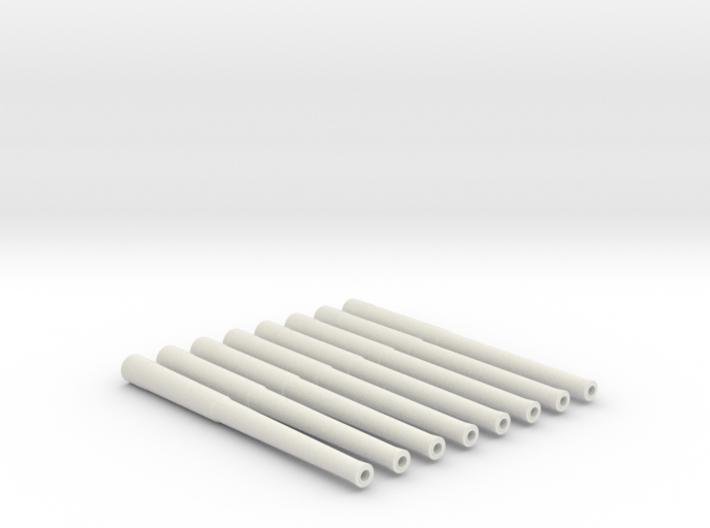 "1/144 Scale 13.5""/45 (34.3 cm) Barrels x8 V2 3d printed 1/144 Scale 13.5""/45 (34.3 cm) Barrels x8 V2"