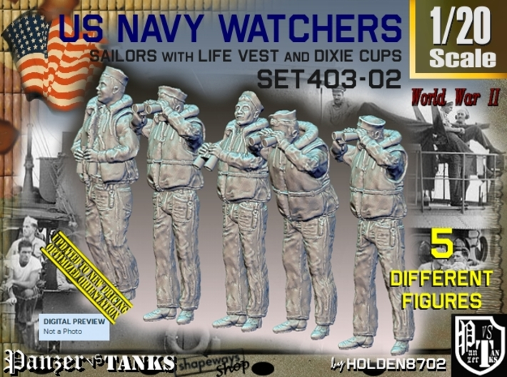 1/20 USN Watchers Set403-02 3d printed