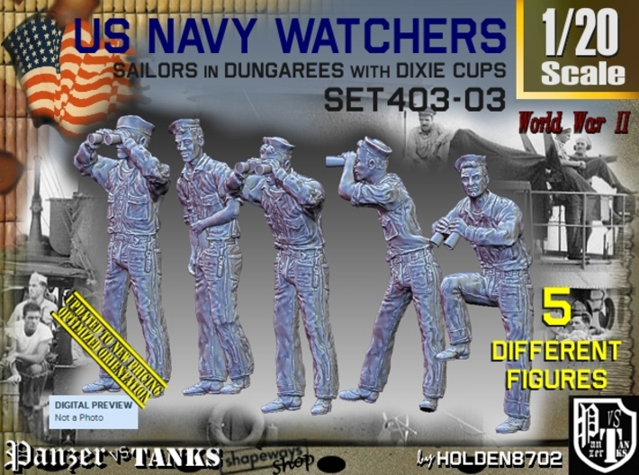 1/20 USN Watchers Set403-03 3d printed