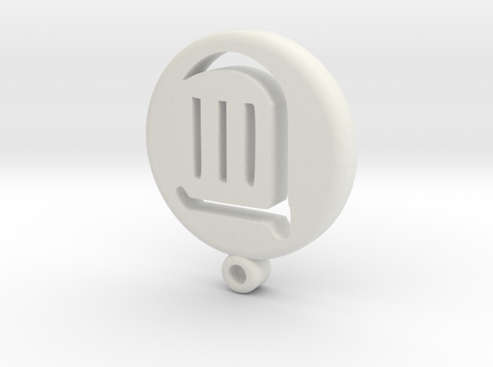 Fantasy Bard Icon Medallion 3d printed
